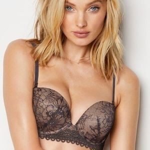 Victoria's Secret Multi-way Push-up Bra: Gray/Nude